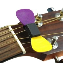 2016 Wholesale 1 pcs Professional Guitar HeadStock Pick Holder Rubber Musical instruments Newest wholesale