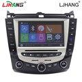Melhor estável Dual core Car radio Navegação GPS Bluetooth/TF/USB slot para honda accord 07/byd f6 com controle da roda de boi RDS