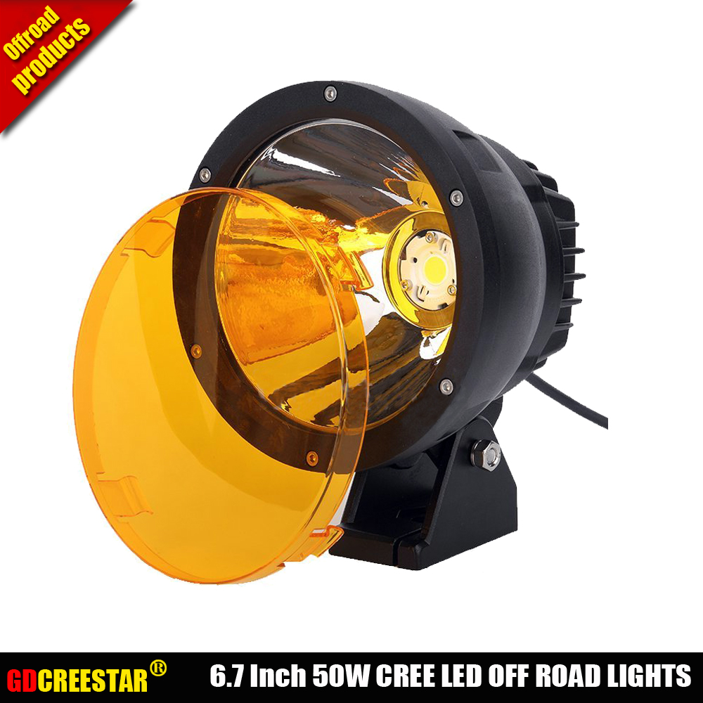Amber lights 9150970 Cannon LED Driving Light 50W Led Cannon Light Narrow Beam 4WD 4x4 Off road Led Headlight x1pc Free Shipping
