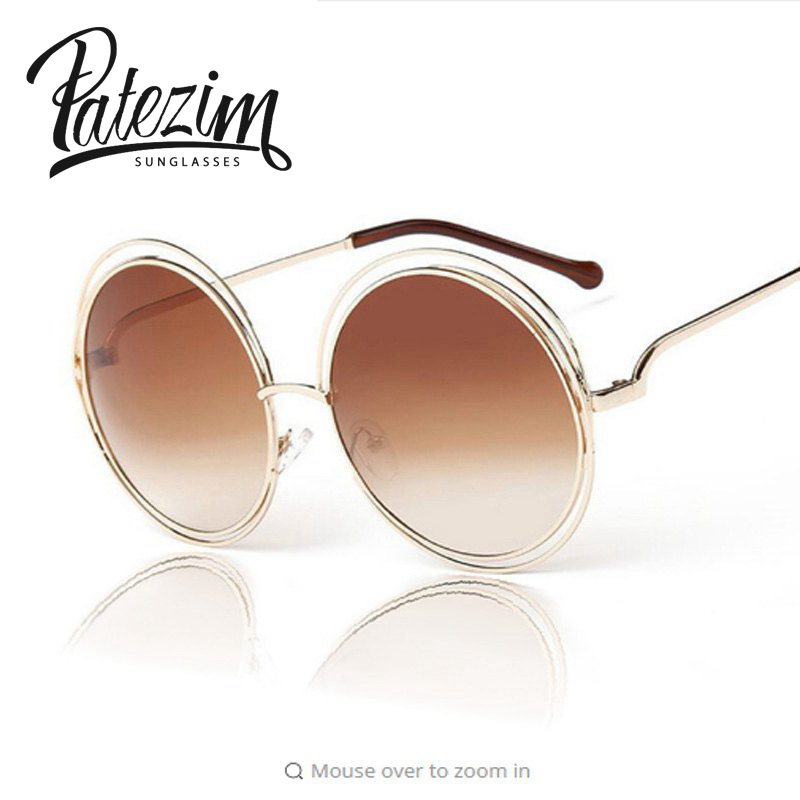 Wire Frame Glasses Trend : PATEZIMS 2016 New Elegant Round Wire Frame Sunglasses ...