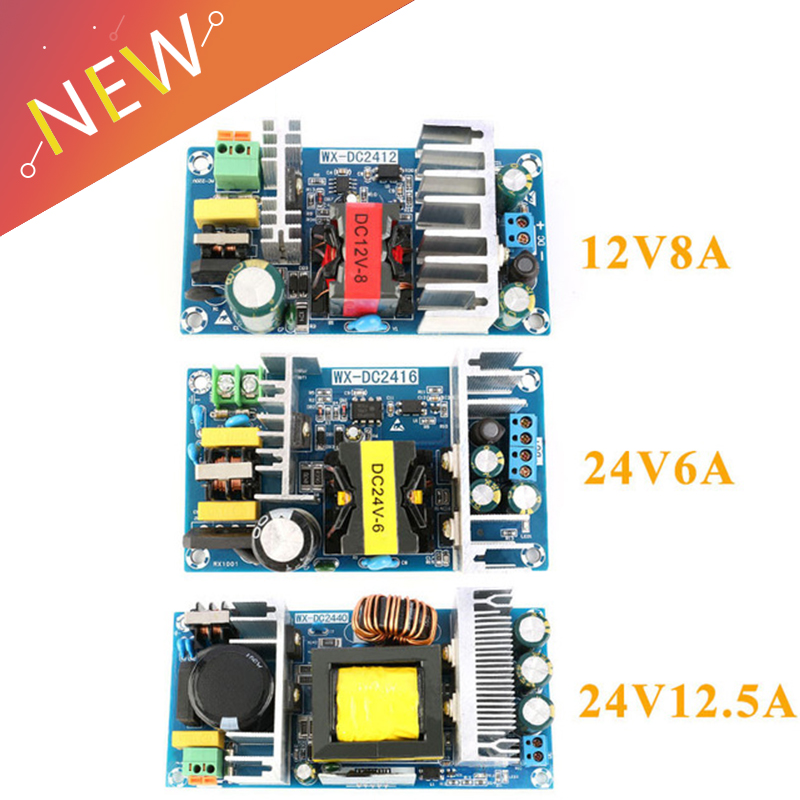 AC-DC 12 v 8a 24 v 6a 24 v 12.5a AC-DC 절연 스위치 전원 공급 장치 모듈 벅 컨버터 스텝 다운 모듈 100 w 150 w 300 w