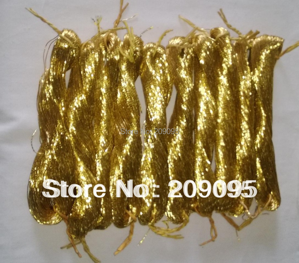 Chinese hand embroidery gold threads metallic thread for