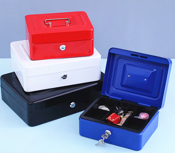20x25x9 cm Portable en métal bureau boîte de rangement banque tirelire économie pièce tirelire coffre-fort Coin tirelire pour enfants jouet cadeau d'anniversaire