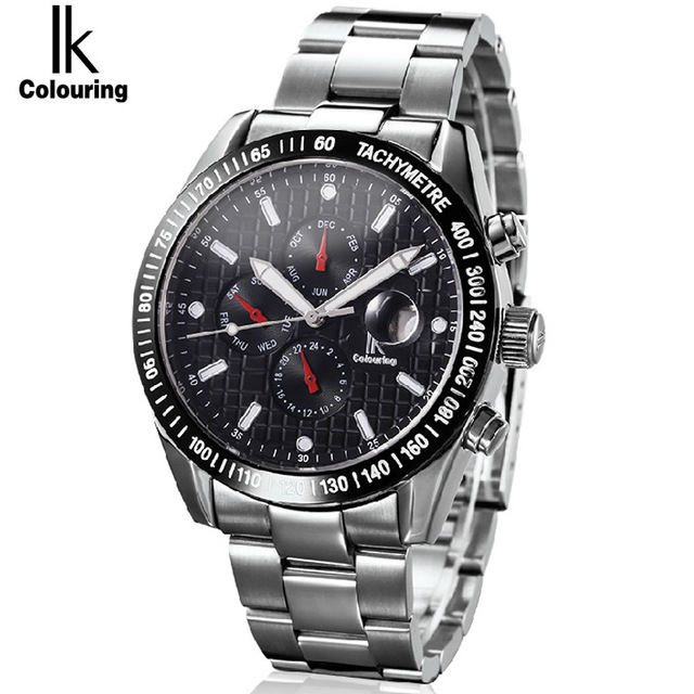 2018 IK Mens Watches Top Brand Luxury Fashion Skeleton Clock Men Sport Watch Automatic Mechanical watches goer men military sport clock male business skeleton clocks automatic mechanical watches top brand luxury mens wrist watch
