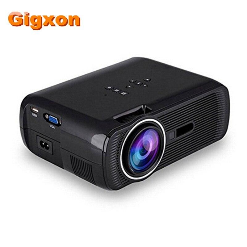 Gigxon G80 1000 Ansi люмен 1920*1080 Full HD Mini Портативный дома Театр Proyector ЖК проектор