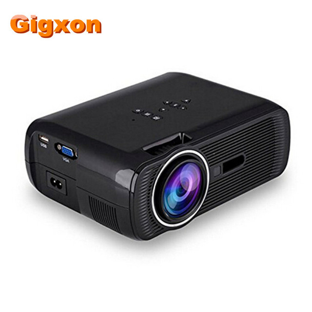 Big Promo Gigxon - G80  1000 Ansi Lumens 1920*1080 Full HD Mini Portable Home Theater Proyector LCD Projector