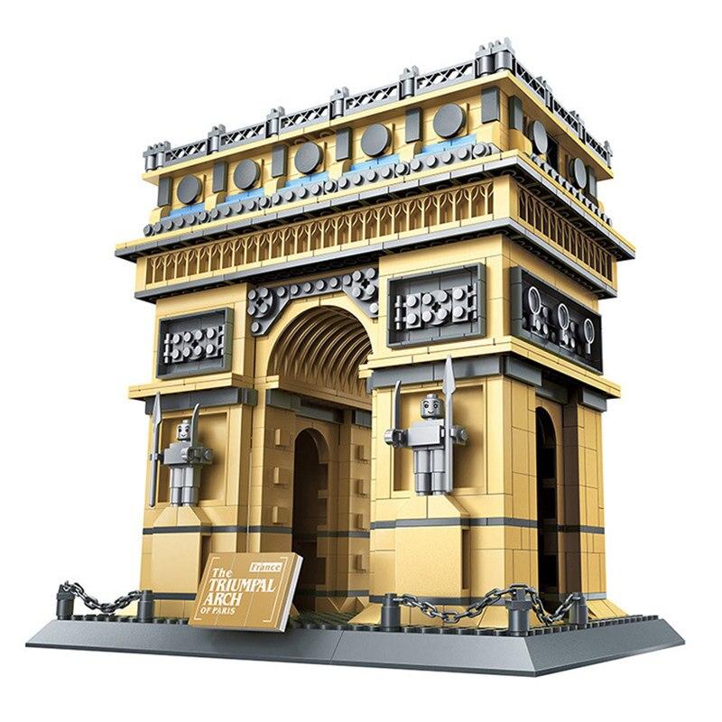 Architettura Serie Parigi Francia Arc de Triomphe Collezione Building Blocks Set Mattoni Classic City Skyline Modello Giocattoli Per Bambini-in Blocchi da Giocattoli e hobby su  Gruppo 1