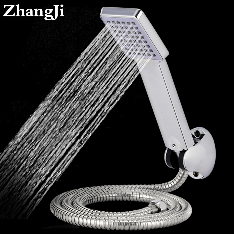 Air kinetic energy abs shower system 110g New style Pressurized head shower 1.5m shower pipe hand shower holder head set ZJ077