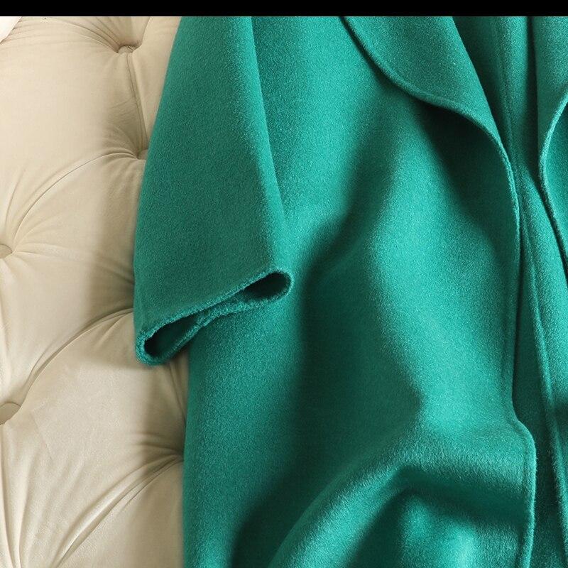 Femelle Femmes chick Manteau Green Longueur Mince 2018 Moyen Yellow Nouveauté Survêtement De Emerald Laine x6Iqrd67