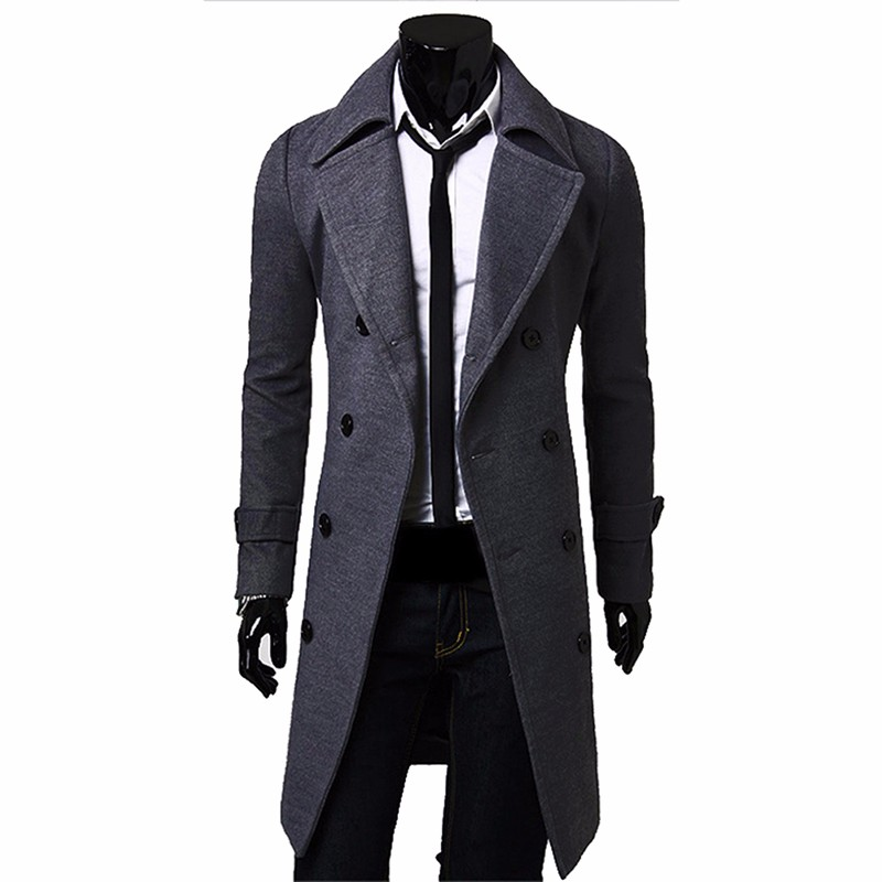 Mens Black Wool Peacoat Promotion-Shop for Promotional Mens Black ...