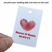 120pcs Personalized Wedding Tags Custom Paper Tag For Party Favor And Wedding Decoration