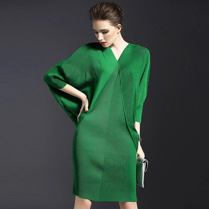 Multiflora tenue robe taille libre femme manches chauve-souris vert/rouge/bleu/noir/gris mode super strech robe femme