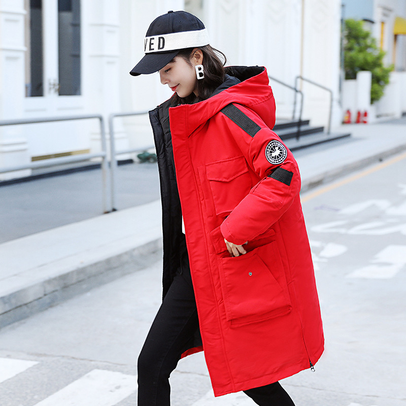 2019 New Hooded   Parkas   Coat Women's Fashion Casual Cotton Tops Winter Warm Lady Mid-long Hooded Ladies Jacket Female Outerwear