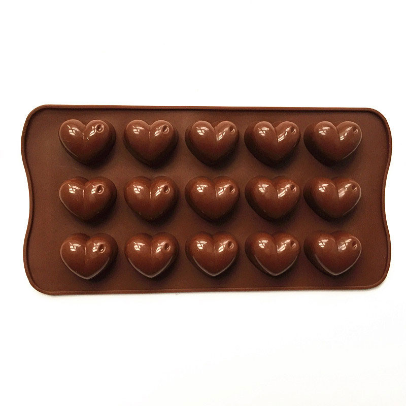 Non-stick Silicone Chocolate Molds Love Heart Shaped Jelly Ice Molds Cake Mould Bakeware Baking Tools Chw9477 Bakeware