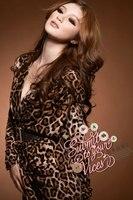 бесплатная доставка мода женщины с длинным рукавом леопард печать с V-Worth платье с пос Lycra хлопок материал для ну вечернее полива и осень