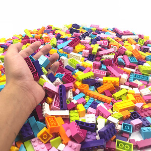 Image 2 - 1000Pcs Colorful Bricks Compatible Classic Building Blocks Bricks Kids Creative Block Toys for Children Girls Birthday Gift Toys