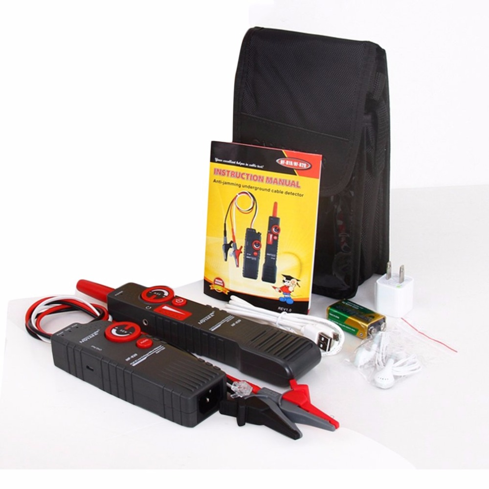 Noaya High & Low Voltage Cable Tester Underground Cable Finder Anti-Interference Wire Tracker RJ45 RJ11 BNC Tester NF-820 free shipping noaya nf 820 underground wire detector can access ac400v high voltage without burning equipment
