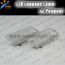 18 SMD Автомобильные светодиодные LED багажного отсека лампы для Peugeot 206 207 306 406 307 406 407 607 806 308 3008 5008 1007