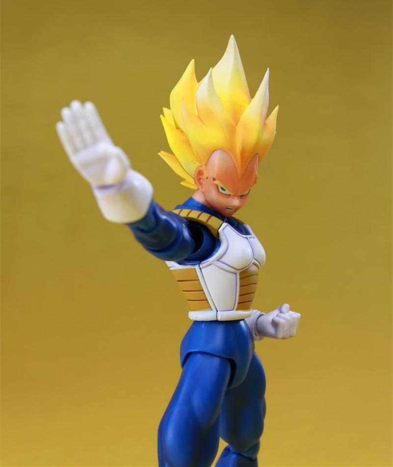 Datong SHF Dragon Ball Series , Self Assembly Super Saiyan Vegeta Action Figure Models