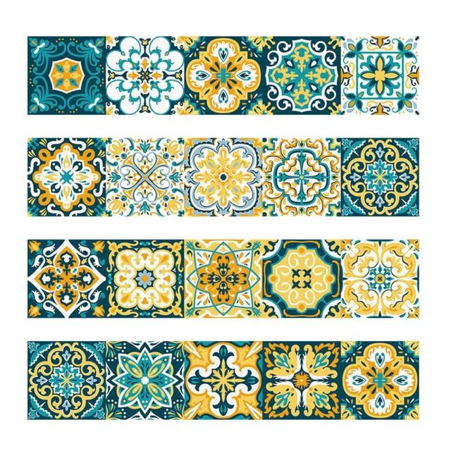 Vintage Waterproof Tile Stickers for Bathroom and Kitchen Walls