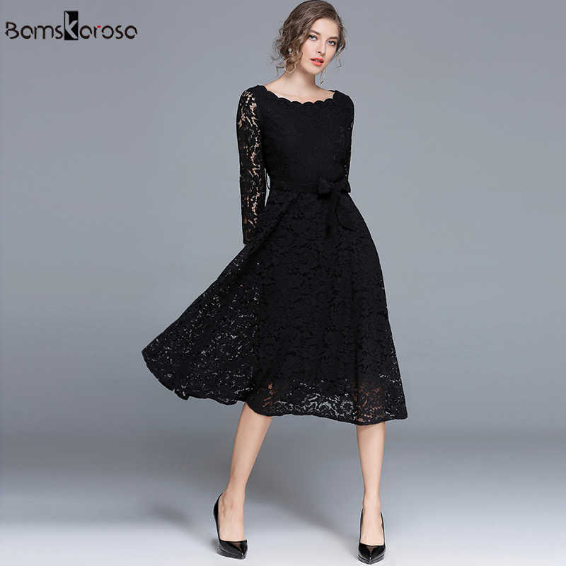 6981da7987 ... Vintage Dress Women Elegant White Lace Dress Black Evening Party  Dresses Female vestido de noite vestido ...
