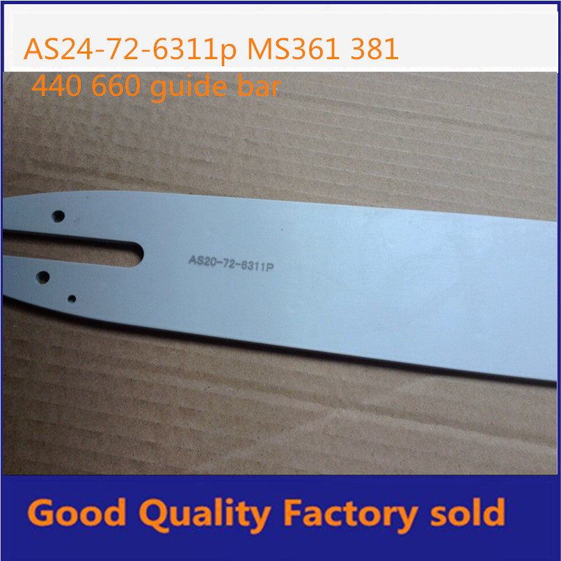 MS381 Chainsaw guide bar 20 guide bar Chain Pitch 3 8 72links Free shipping