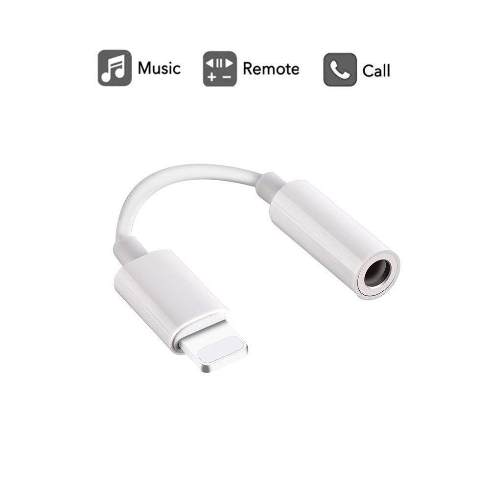HBUDS for Apple Lightning to 3.5mm headphone jack adapter for 8 Pin Connector for iPhone 8/ 8 Plus/ iPhone X/ iPhone 7/ 7 Plus