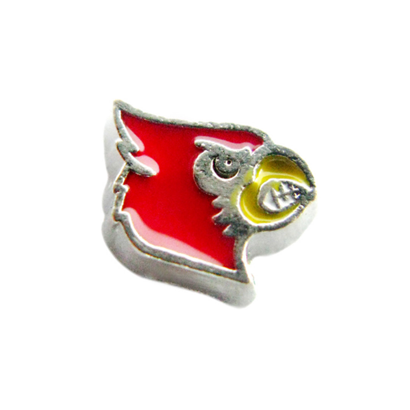 20 Pcs Enamel College Of Louisville Cardinals Charms Alloy Locket Charms For Living Memory Locket