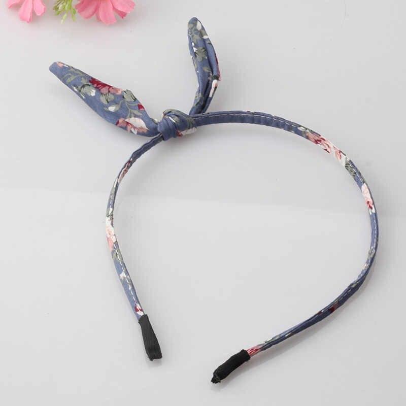 חדש קיץ סגנון בנות ארנב אוזן שיער להקת שיער אביזרי דוט פרח קשת יפה להקת שיער סרט אוזני ארנב