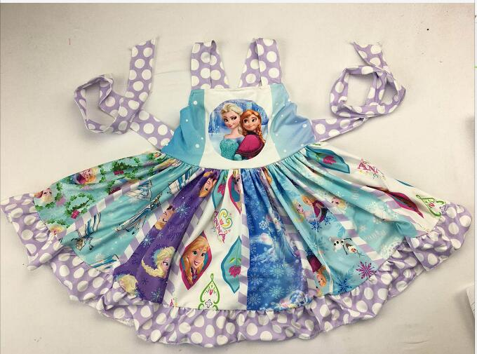 girls hot selling cartoon dress with princess pattern persnickety children clothing(China)