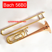 USA tenor trombone Bach 56BO Bb Phosphorus & Copper Tone Trombone Band performance professional performance musical instrument