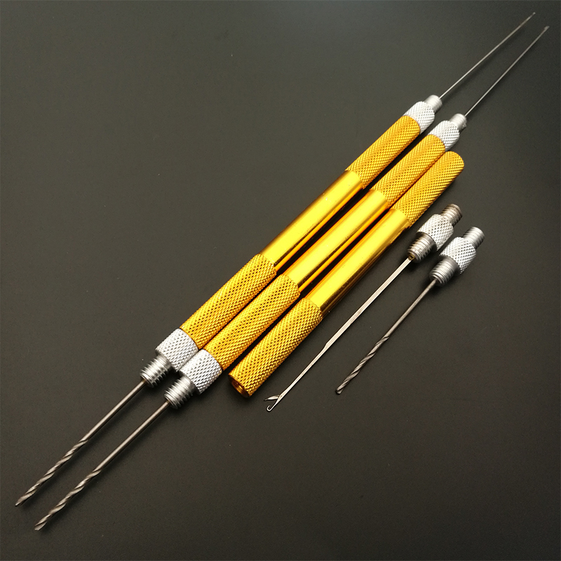 Carp Fishing Aluminum Boilie Needle Baiting Tool Splicing Needle Making Tools Boilie Drills Lead Core Hair Rigs Loading Device