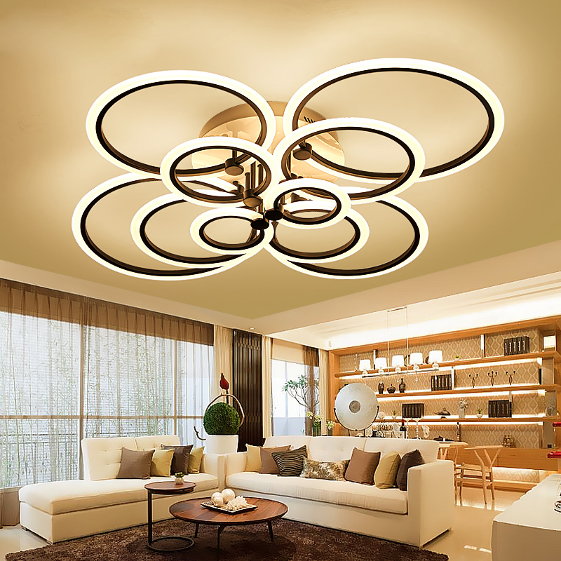 Remote control living room, bedroom modern LED ceiling lights Luminarias Para Sala dimmi ...