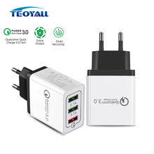 Universal Qualcomm Quick charge 3.0 USB Charger Mobile Phone Fast Charger Samsung iPhone iPad Huawei Xiaomi 5V 3A Wall Charger