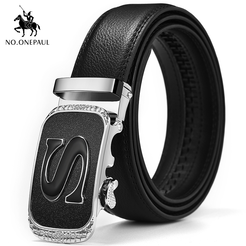 NO.ONEPAUL Designed For Men With Metal Automatic Buckle To Produce High Price, Affordable Business Leisure Brand Leather Belt