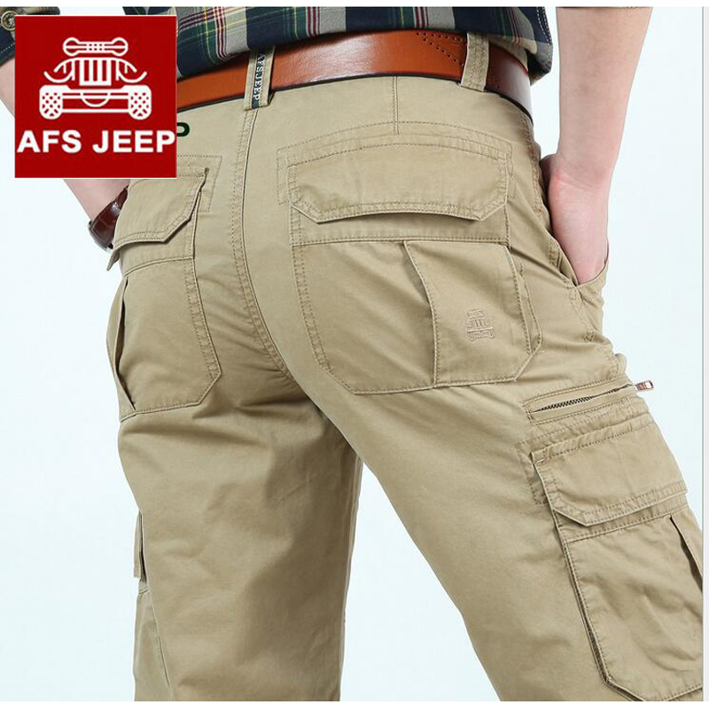 Afs Jeep Brand Fashion Man Pans Cargo Pants Mens Casual Militar Style Trousers Homme size