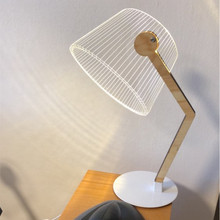 HZFCEW простой Nordic Стиль светодиодный ночник 3D акрил креативная настольная лампа прикроватной тумбочке декоративная настольная лампа FR124