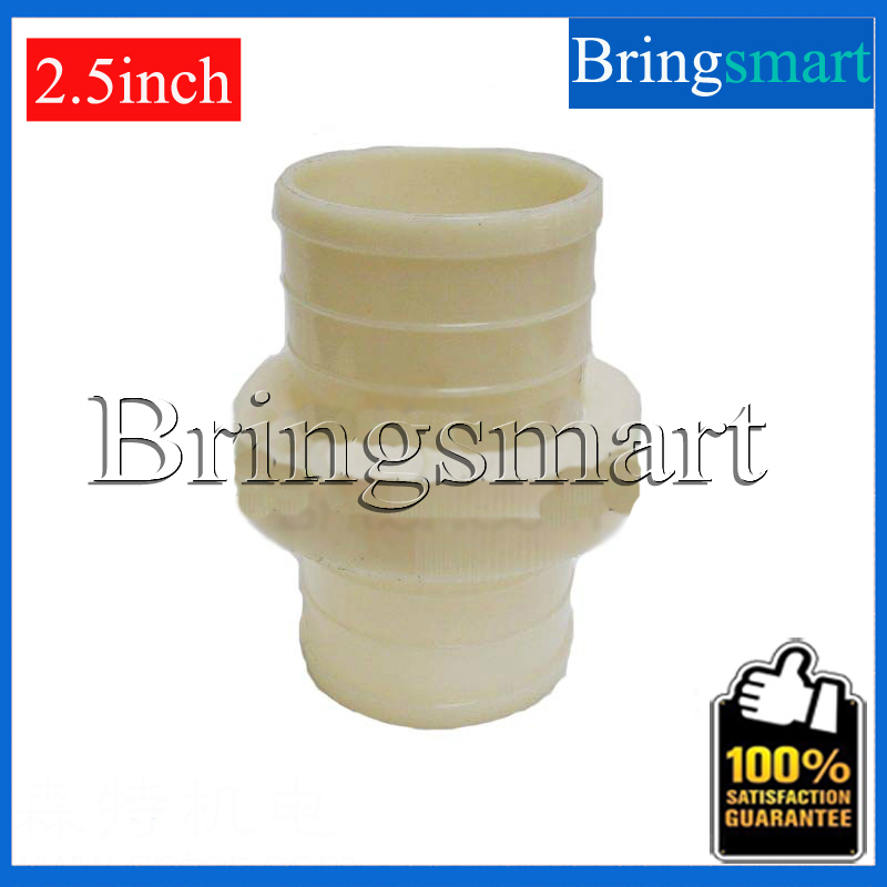 5pcs 2.5 inch 60-62mm Hose Connector Water Pump Pipe ABS Plastic Pipe Fittings Connectors With Hose For Pump Parts repairing abs water pipe connector adapter grass green