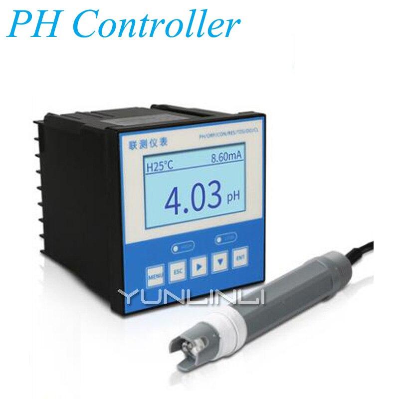 Contrôleur de PH industriel en ligne testeur de ph-mètre sonde capteur ORP détecteur d'acidité des eaux usées compteur SIN-PH160