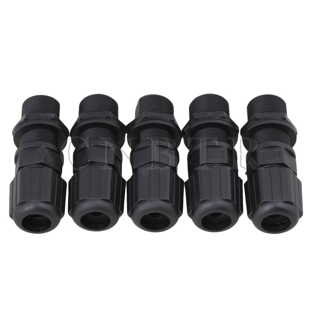 M20 Ethernet LAN RJ-45 RJ45 Nut AP Waterproof Connector DC 0-24V Set of 5 20 x m20 ethernet lan rj 45 rj45 nut ap waterproof connector dc 0 24v black