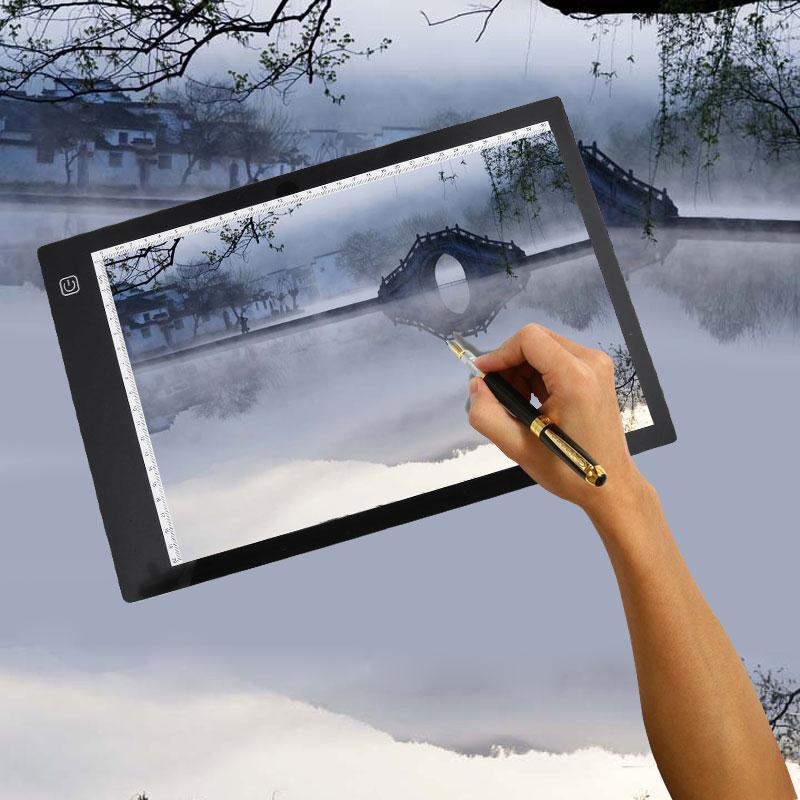 Cewaal A4 LED Light Pad Stencil Board font b Tablet b font Tracing font b Drawing