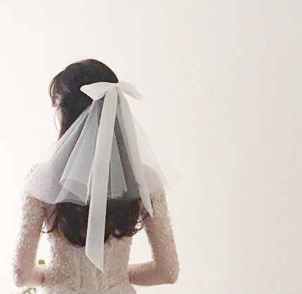 Wedding-Veils Comb Short Ivory White One-Layer Woodland Real With New Bridal YARN JIN