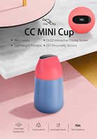 Xiaomi Mijia Kiss Kiss Fish Mini Cup Smart Vacuum Insulation Bottle with OLED Temperature display Touch screen and DIY Stickers