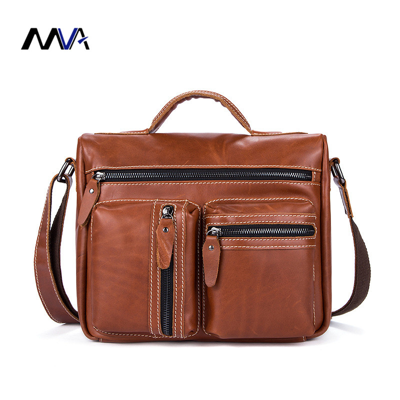 MVA Genuine Leather bag Men Bags Messenger casual Men's travel bag leather clutch crossbody bags shoulder Handbags mva genuine leather men bag business briefcase messenger handbags men crossbody bags men s travel laptop bag shoulder tote bags