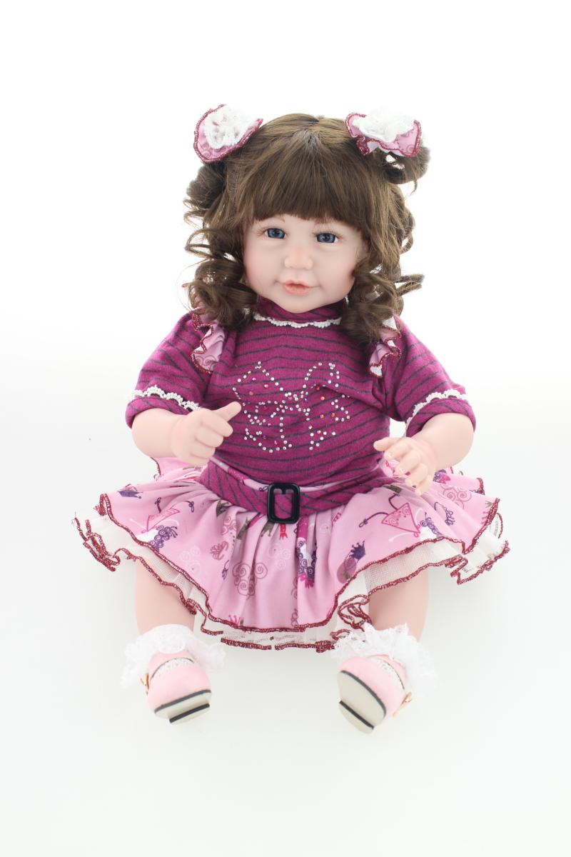 20 Inches 52CM Silicone Reborn Babies Doll Baby Smiling Girl Lovely Hobbies Handmade Classic Toys for Kids Gift20 Inches 52CM Silicone Reborn Babies Doll Baby Smiling Girl Lovely Hobbies Handmade Classic Toys for Kids Gift