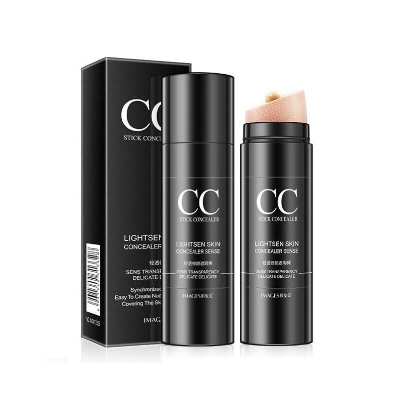 Air Cushion CC Cream Waterproof Moisturizing Brighten Skin Tone Cover Blemishes Base Makeup