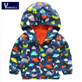 Children's jackets full printing small dinosaurs boys coat 2016 new kids spring baby Hoodie boys and girls