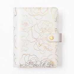 Cuaderno de flores doradas y revistas Lovedoki, cuaderno diario A5A6, cuaderno de viaje, papelería, suministros escolares
