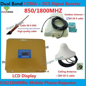 Office 1800MHz LTE 4G cellular signal booster , 2G GSM Cell Phone Signal repeater gsm 900MHz amplifiers + cable + omni antenna