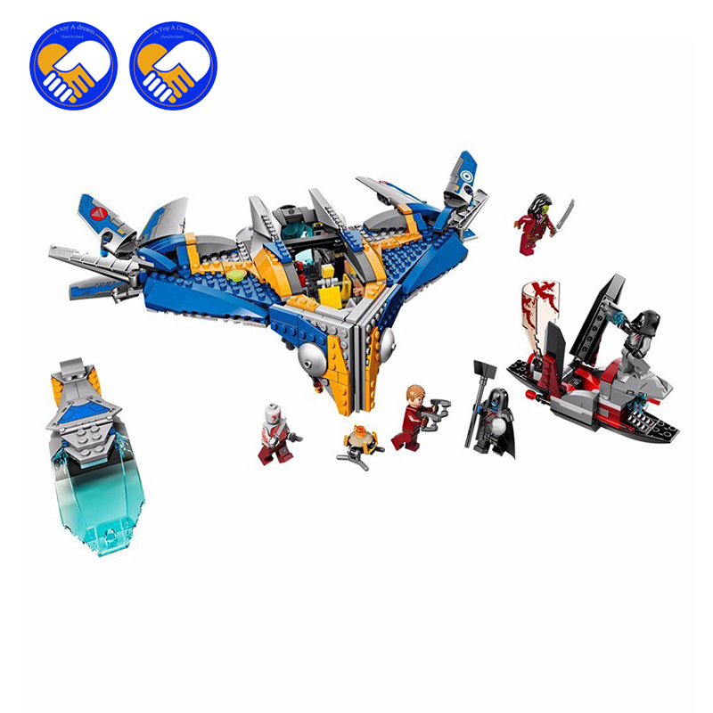 (A Toy A Dream)10251 MARVEL GUARDIANS OF THE GALAXY Milano Spaceship Rescue DIY Educational Building Blocks Toys the rescue